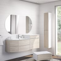 Mobile bagno Soho rovere sbiancato L 150 cm