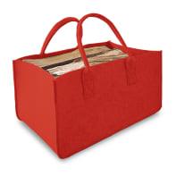 Borsa portalegna in feltrino L 49 x H 27 x P 33.5 cm rosso