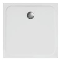 Piatto doccia ultrasottile resina sintetica e polvere di marmo Easy 90 x 90 cm bianco