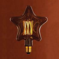 Lampadina decorativa LED Star caldo E27 6W = 400LM (equiv 6WW) 360°