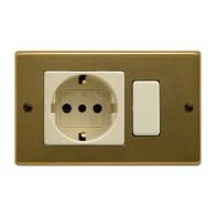 Placca FEB Laser 2 moduli bronzo compatibile con magic