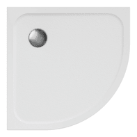 Piatto doccia ultrasottile resina Easy 80 x 80 cm bianco