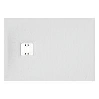 Piatto doccia ultrasottile resina sintetica e polvere di marmo Remix 70 x 100 cm bianco