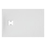 Piatto doccia ultrasottile resina sintetica e polvere di marmo Remix 80 x 120 cm bianco