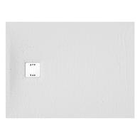 Piatto doccia ultrasottile resina sintetica e polvere di marmo Remix 90 x 160 cm bianco