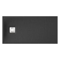 Piatto doccia ultrasottile resina sintetica e polvere di marmo Remix 70 x 140 cm nero