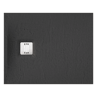 Piatto doccia ultrasottile resina sintetica e polvere di marmo Remix 80 x 100 cm nero