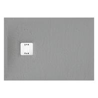 Piatto doccia ultrasottile resina sintetica e polvere di marmo Remix 70 x 100 cm grigio