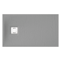 Piatto doccia ultrasottile resina sintetica e polvere di marmo Remix 70 x 120 cm grigio