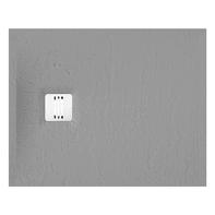 Piatto doccia ultrasottile resina sintetica e polvere di marmo Remix 80 x 100 cm grigio