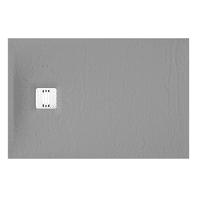 Piatto doccia ultrasottile resina sintetica e polvere di marmo Remix 80 x 120 cm grigio
