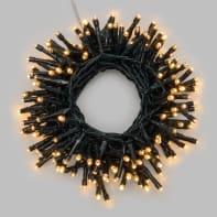 Catena luminosa 500 lampadine LED bianco caldo 20.5 m