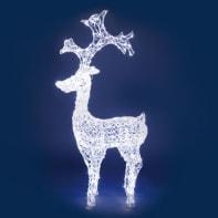 Renna 250 lampadine bianco freddo H 120 cm