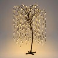 Albero luminoso 512 lampadine bianco caldo H 200 cm