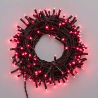 Catena luminosa 180 lampadine LED rosso 400 cm