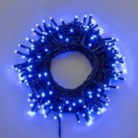 Catena luminosa 180 lampadine LED blu 400 cm