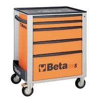Carrello per officina BETA in metallo 1 ruota 6 cassetti , L 74 x