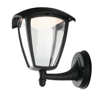 Applique Lady LED integrato in alluminio, nero, 12W 800LM IP44