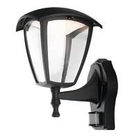 Applique Lady LED integrato con sensore di movimento, in alluminio, nero, 12W 800LM IP44
