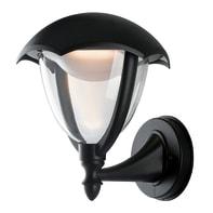Applique Megan LED integrato in alluminio, nero, 12W 800LM IP44