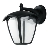 Applique Lady LED integrato in alluminio, nero, 12W 800LM IP44