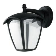 Applique Lady LED integrato in fusione di alluminio, nero goffrato , 12W 800LM IP44