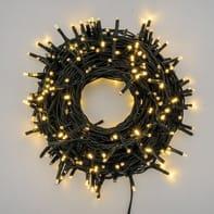 Catena luminosa 300 lampadine LED bianco caldo 1800 cm