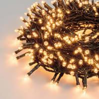 Catena luminosa 600 lampadine LED bianco caldo 2450 cm