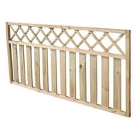 Recinzione griglia con decoro in legno L 180 x H 90 x P 4.5 cm