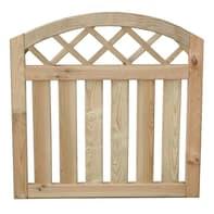 Recinzione Arco con decoro in legno L 100 x H 105 x P 4.5 cm