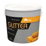 Pittura decorativa GECKOS Glitter 4 l grigio effetto paillette