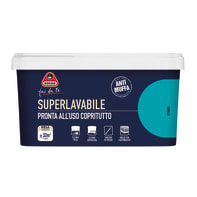 Pittura murale  antimuffa Superlavabile BOERO 2.5 L ottanio