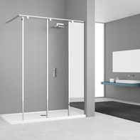Doccia walk in ELISEO L 120, H 200 cm, vetro 8 mm mirror and transparent cromato
