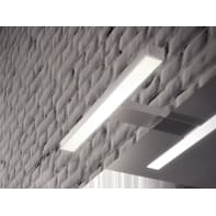 Applique moderno Nite LED integrato cromo, in vetro,