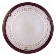Plafoniera Greca marrone, in vetro, diam. 36 cm, E27 MAX60W IP20