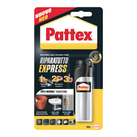 Bicomponente da miscelare resina epossidica per legno<multisep/>metallo<multisep/>ceramica<multisep/>plastica<multisep/>sughero PATTEX Riparatutto Express 48g