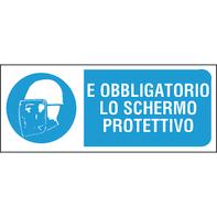 Cartello segnaletico Obbligo schermo protettivo pvc 31 x 14 cm
