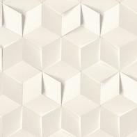 Carta da parati Cubi bianco