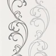 Carta da parati Damas arabesque nero/argento