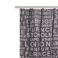 Tenda INSPIRE Oscurante Vintage grigio fettuccia con passanti nascosti 140 x 280 cm