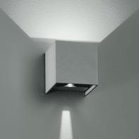 Applique Alfa LED integrato in alluminio, grigio metallizzato, 6W 500LM IP54