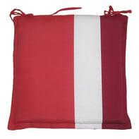 Cuscino per sedia Rigone bordeaux 40x40 cm