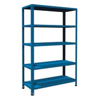 Scaffale in metallo in kit Crosser L 120 x P 50 x H 188 cm blu