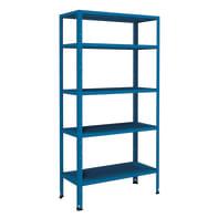 Scaffale in metallo in kit Crosser L 90 x P 40 x H 180 cm blu