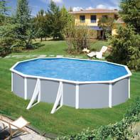 Piscina fuori terra ovale autoportante KITADEO610 375 x 595 cm