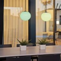 Lampada da esterno Norai H24cm, in plastica, luce bianco, LED integrato IP65