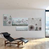 Quadro dipinto a mano Soffioni 60x120 cm