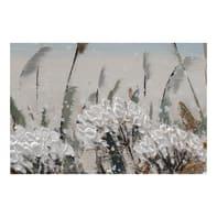 Quadro dipinto a mano Campo soffioni 65x150 cm