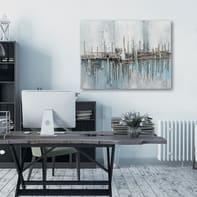 Quadro dipinto a mano Astrat 90x120 cm