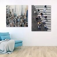 Quadro dipinto a mano Strisce 90x120 cm